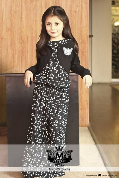 Maria B Winter Dresses 2015 for Kids