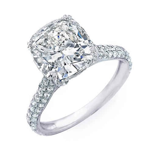 New Designs Of Cushion Cut Engagement Rings 004