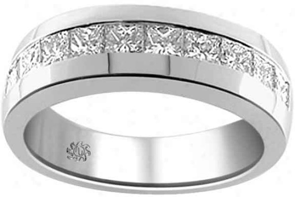 Diamond Wedding Band Mens