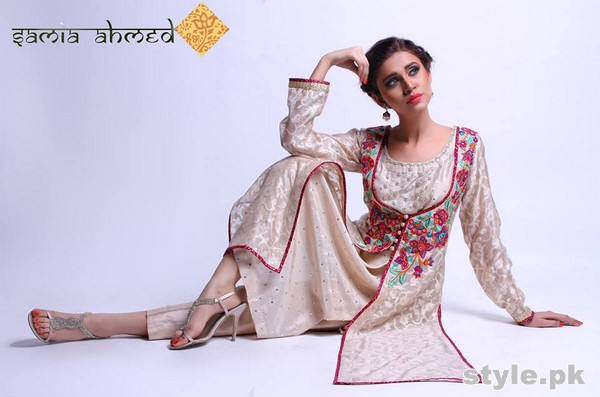 Samia Ahmed Spring Summer Dresses 2015 For Girls 1