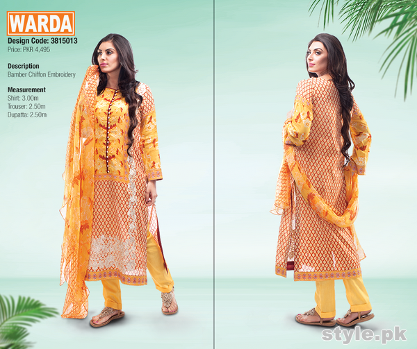 Warda Designer Spring Summer Dresses 2015 For Girls 9