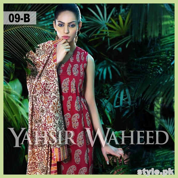 Yahsir Waheed Spring Summer Dresses 2015 For Girls 1