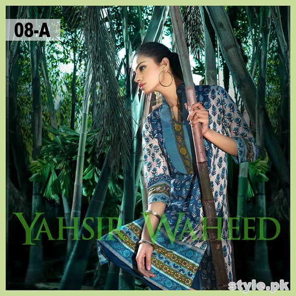 Yahsir Waheed Spring Summer Dresses 2015 For Girls 8