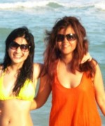ayesha omer and maria wasti on beach