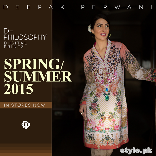 Deepak Perwani Spring Summer Dresses 2015 For Girls 4
