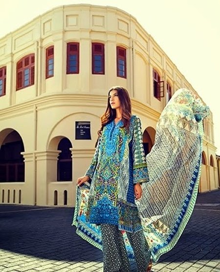 Elan Lawn Collection 2015 By Khadija Shah 004