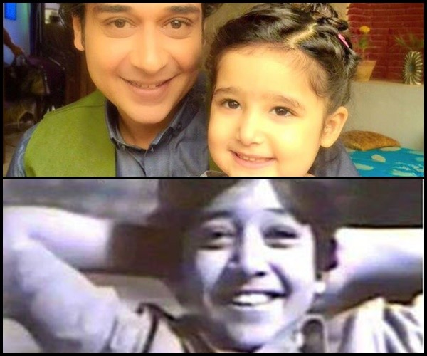 Faisal Qureshi In His Childhood and his daughter