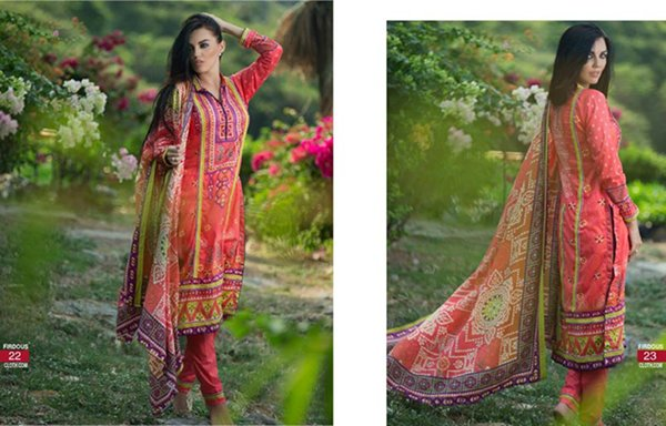 Firdous Cloth Mills Korean Lawn Collection 2015 For Women 0017