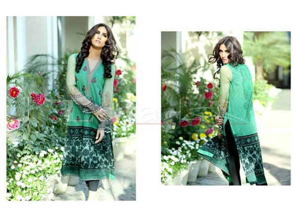 Lala Textiles Sana & Samia Collection 2015 Volume 2 For Women 006