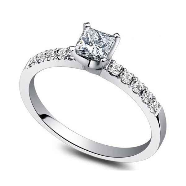 Cheap Simple Diamond Engagement Rings