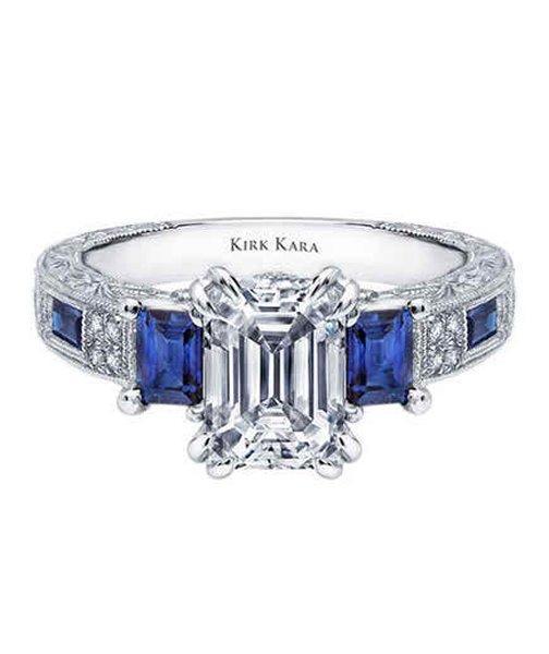 Emerald Cut Wedding Ring Set 92 Superb