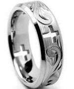 Dark Mens Wedding Bands