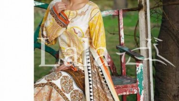 Sana and Samia Lawn Dresses 2015 by Lala 18