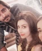 hamza ali abbasi and ayesha khan with sarwat gillani
