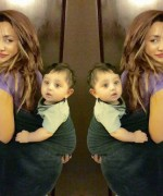 mathira with her baby