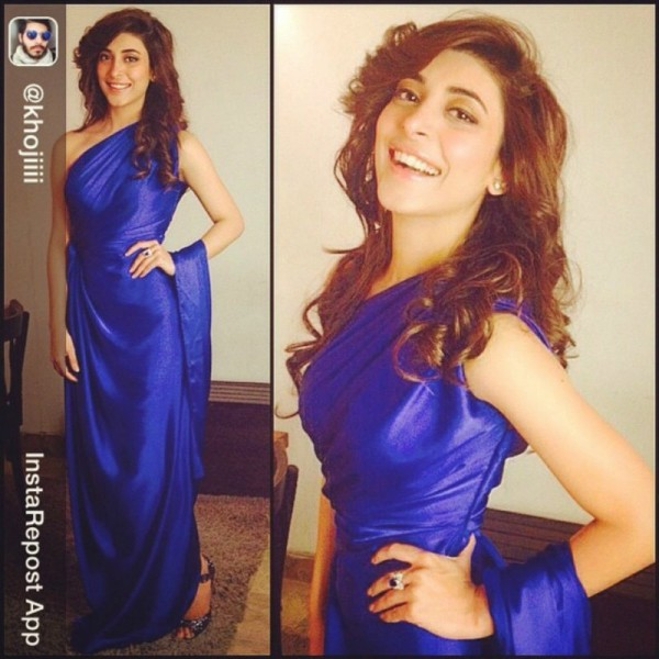 urwa hocane in blue dress