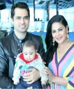 veena malik with family on birthday