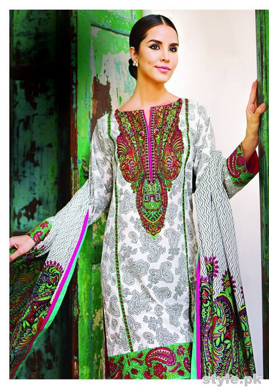 Al-Karam Summer Lawn Dresses 2015 Volume 2 7