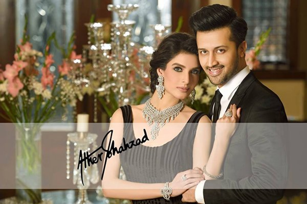 Atif Aslam And Saeeda Imtiaz Photoshoot For Damas 003