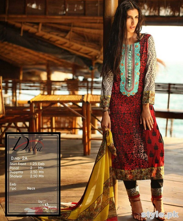 Deeba Premium Lawn Collection 2015 by Shariq Textiles 1