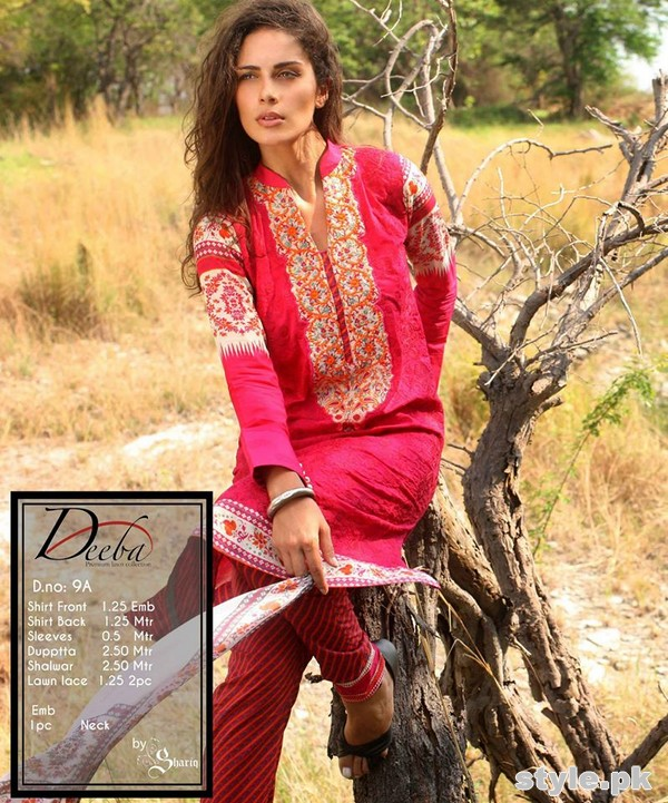 Deeba Premium Lawn Collection 2015 by Shariq Textiles 2