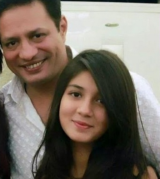 Hassan somroo with daughter Zoya Hasasn