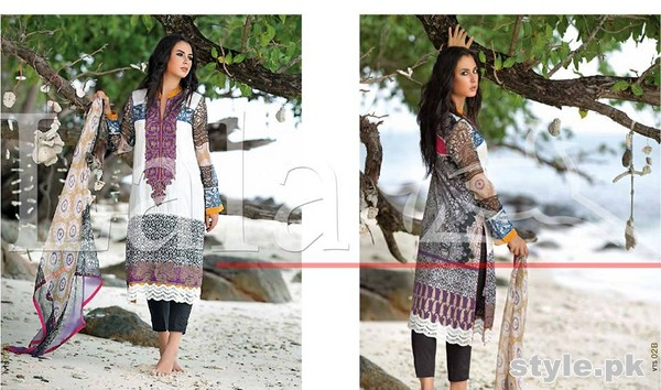 Lala Vintage Lawn Dresses 2015 For Summer 5