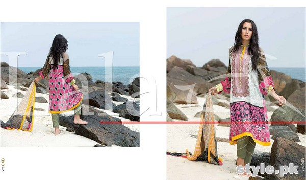 Lala Vintage Lawn Dresses 2015 For Summer 6