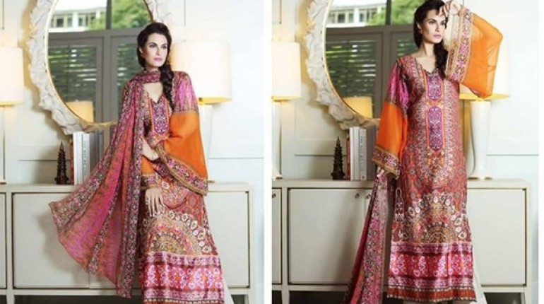 6620c7113376 Latest Pakistani Casual Dresses Designs 2015 For Girls