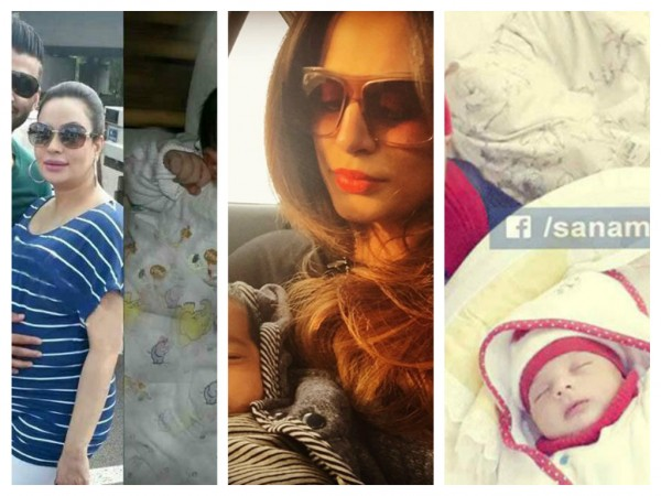 Pakistani Celebrities And Their Newborn Babies 001