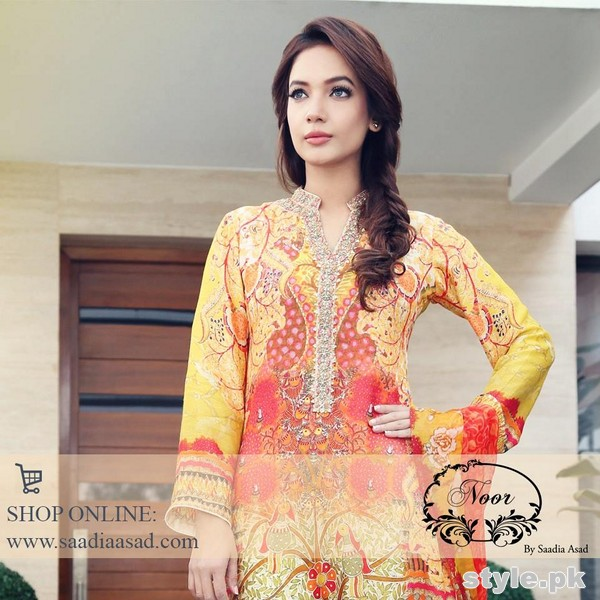 Saadia Asad Summer Dresses 2015 For Girls 6