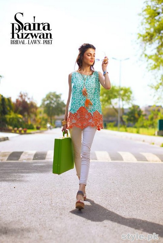 Saira Rizwan Lawn Dresses 2015 For Summer 5