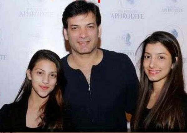 Saleem Sheikh with daughters