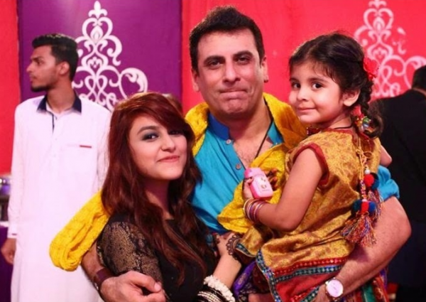 Shamoon Abbasi with daughter Anzila Abbasi
