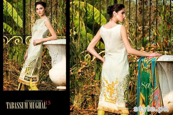 Tabassum Mughal Lawn Dresses 2015 by Al-Zohaib Textile 10
