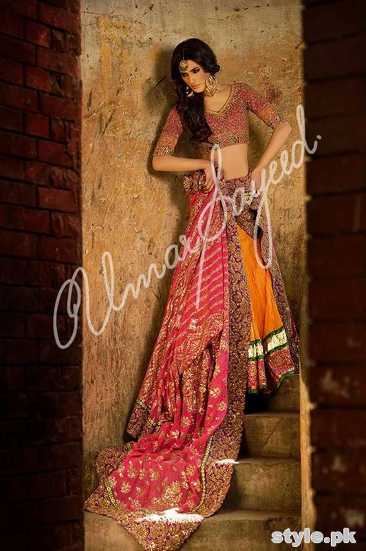 Umar Sayeed Ghagra Choli Collection 2015 For Women 5