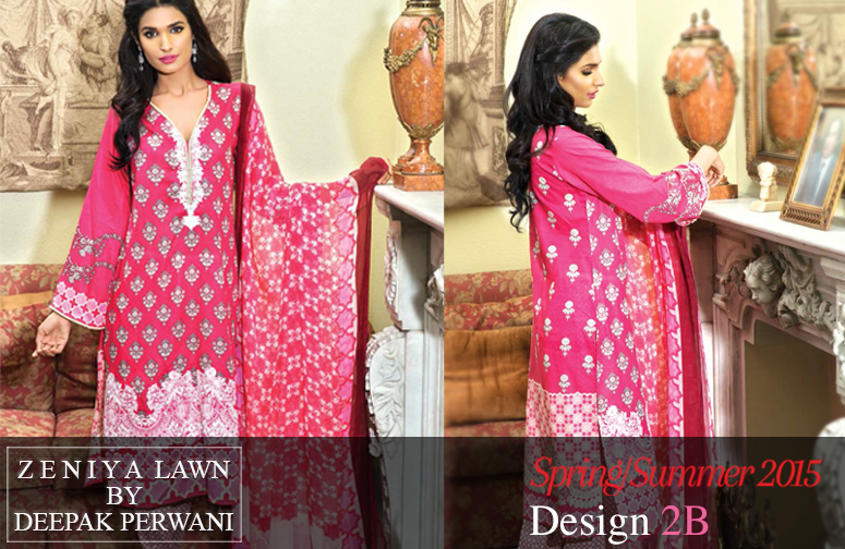 Zeniya Lawn Collection 2015 By Deepak Perwani 0013