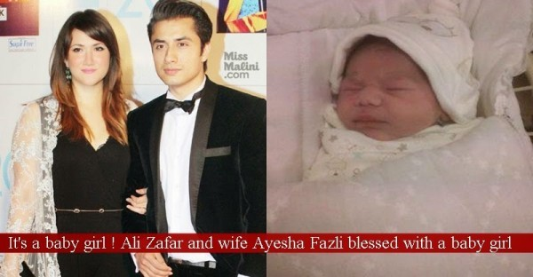 Ali Zafar Decided A Name For His Newly Born Daughter
