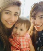 syra shehroz with daughter nooreh and sister palwasha yousuf