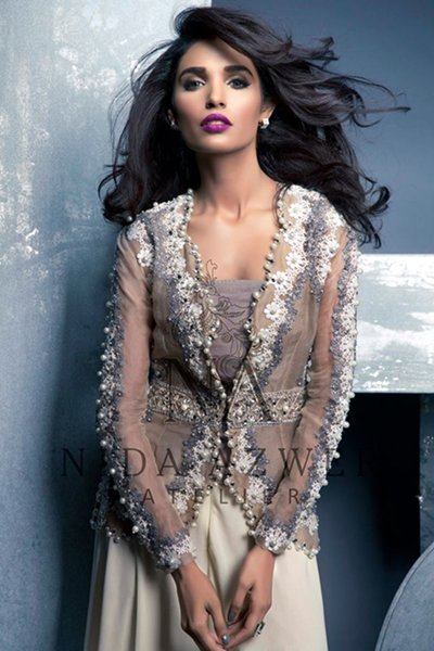 Nida Azwer Party Wear Collection 2015 For Women0011