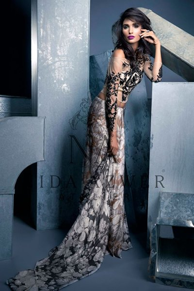 Nida Azwer Party Wear Collection 2015 For Women009
