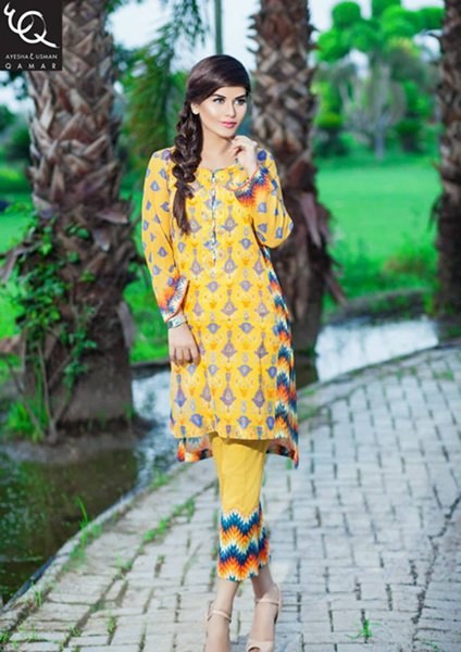 Ayesha And Usman Qamar Eid Collection 2015 For Women006