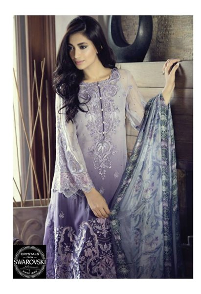 Maria B Embroidered Chiffon Collection 2015 For Women008
