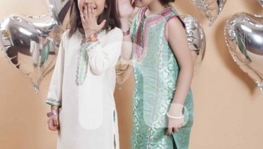 Naqsh By Nishat Linen Eid Collection 2015 For Kids002