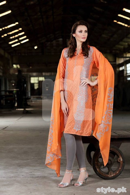 Nishat Linen Eid Collection 2015 For Women 1
