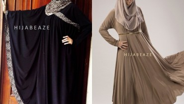 Abayas collection of Hijabeaze 2015 by Urooj Nasir