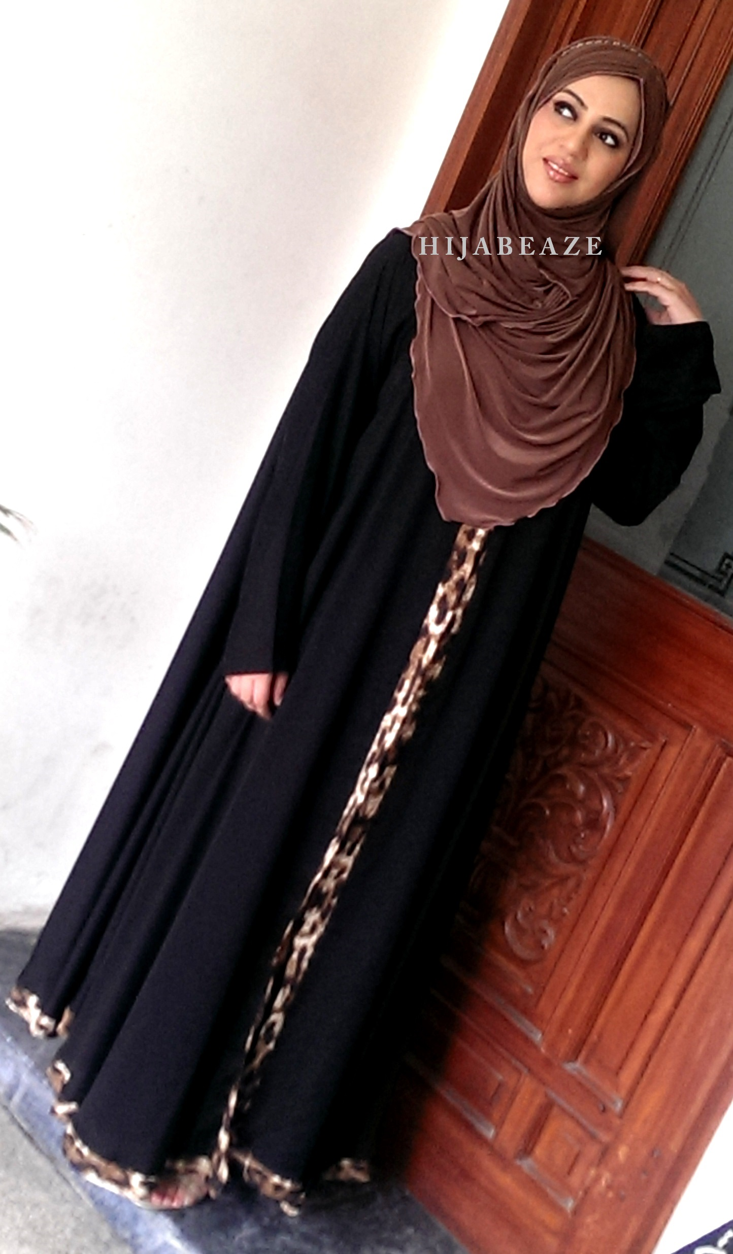 See Abayas collection of Hijabeaze 2015 by Urooj Nasir