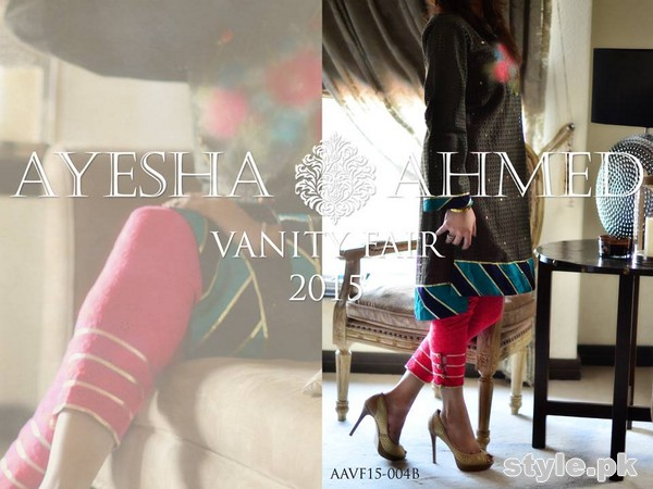 Ayesha Ahmed Eid Dresses 2015 For Girls 10
