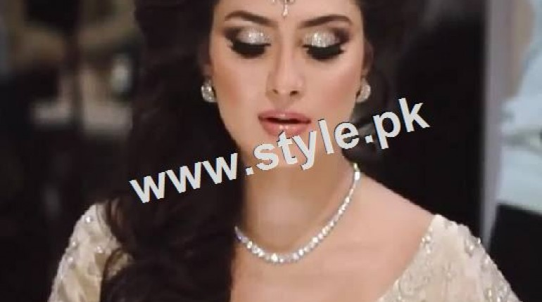 See Ayeza Khan as a signature bride of Natashas Salon
