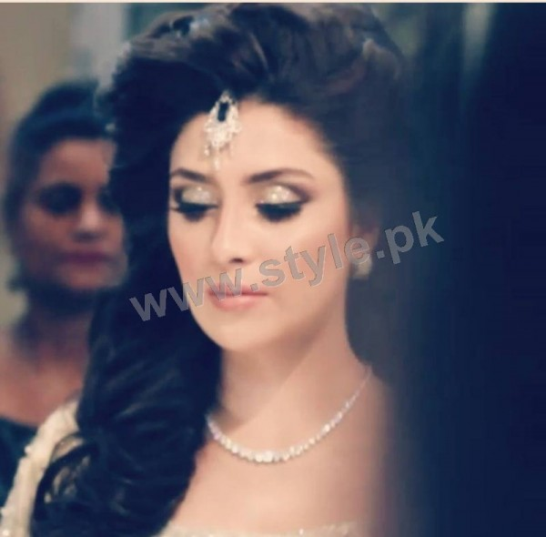 Ayeza Khan as a signature bride of Natashas Salon